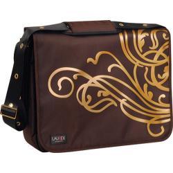 Laurex Gold Wave/Dark Brown 17-inch Laptop Messenger Bag