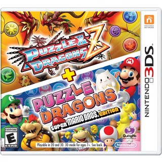 PUZZLE & DRAGONS Z + PUZZLE & DRAGONS SUPER MARIO BROS EDITION -Nintendo 3DS