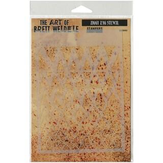 Brett Weldele Stencil Collection 6.5inX4.5inZiggy Zags