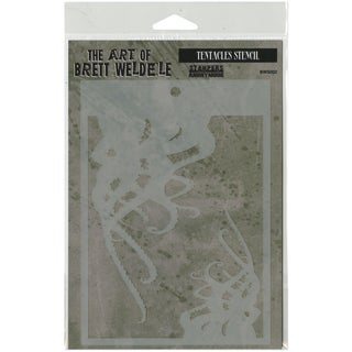 Brett Weldele Stencil Collection 6.5inX4.5inTentacles