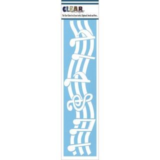 Clear Scraps Border Stencils 3inX12inMusic Notes