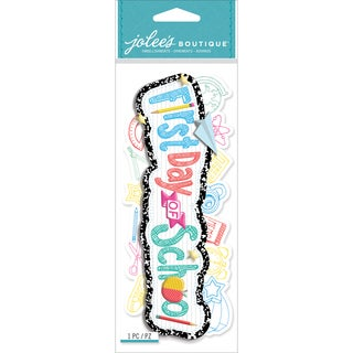Jolee's Boutique Title Wave Dimensional StickersFirst Day Of School