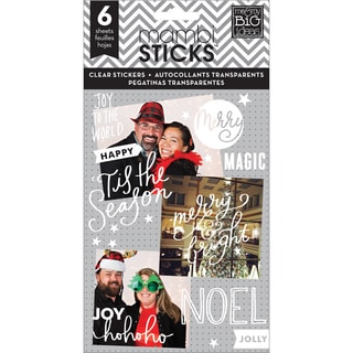 Me & My Big Ideas Pocket Pages Clear Stickers 6 Sheets/PkgJoy To The World