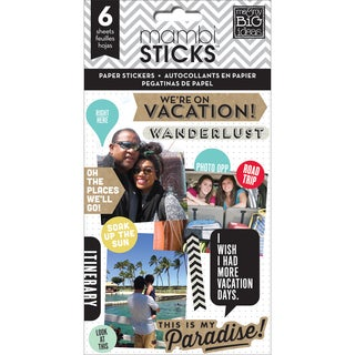 Me & My Big Ideas Pocket Pages Paper Stickers 6 Sheets/PkgWe Are On Vacation