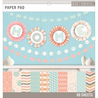 K&Company Basics 12inX12in Paper Pad 80/PkgPastels, 20 Designs/4 Each