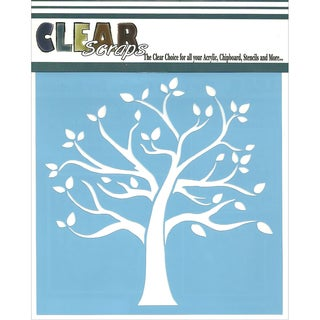 Clear Scraps Stencils 6inX6inFamily Tree