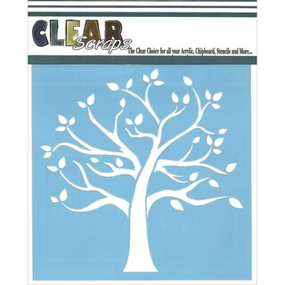 Clear Scraps Stencils 6inX6inFamily Tree