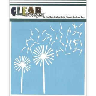 Clear Scraps Stencils 6inX6inDandelion Wind