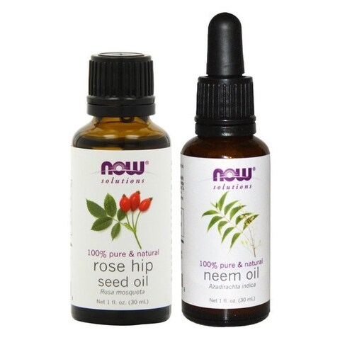 Now Foods Neem Oil and Rose Hip Seed Skin Moisturizing Oils