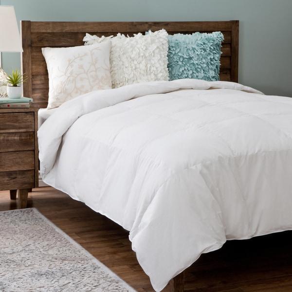 Grandeur Collection Cotton White Goose Down Comforter