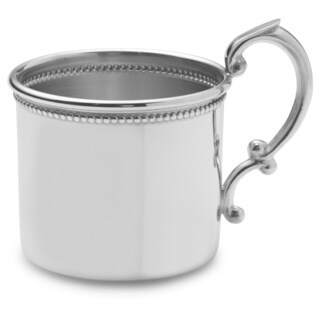 Empire Silvertone Pewter Beaded Baby Cup