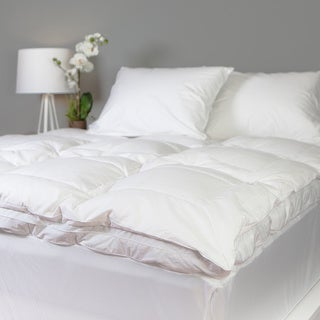 Grandeur Collection Overfilled 300 Thread Count Cotton Down and Goose Featherbed