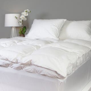 Grandeur Collection Overfilled 300 Thread Count Cotton Down and Goose Featherbed (Option: Queen)|https://ak1.ostkcdn.com/images/products/10186788/P17312527.jpg?impolicy=medium