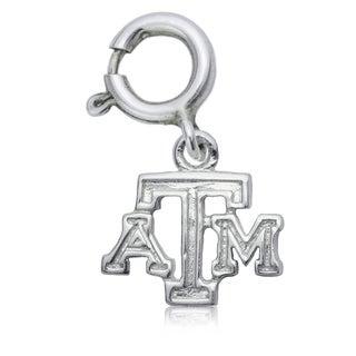 Texas AandM Sterling Silver Charm