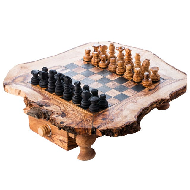 Olive Wood Chess Set Small Size (11x11x3)