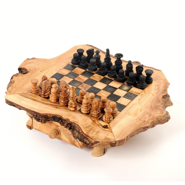 Handmade Olive Wood Chess Set (Tunisia) Small Size (11x11x3)   N/a   Free  Shipping Today   Overstock.com   17312535