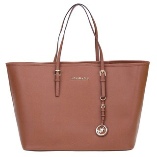 Michael Kors Saffiano Leather Medium Jet Set Travel Tote Bag