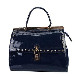 Rimen & Co Patent Rhinestone Handbag