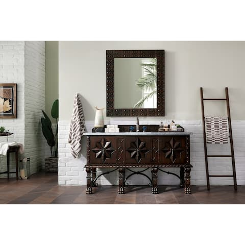 James Martin 60-inch Single Walnut Bathroom Vanity