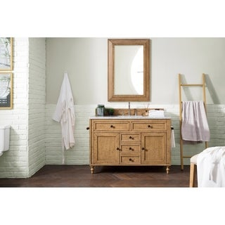 James Martin Furniture 48-inch Single Driftwood Patina Bathroom Vanity Cabinet