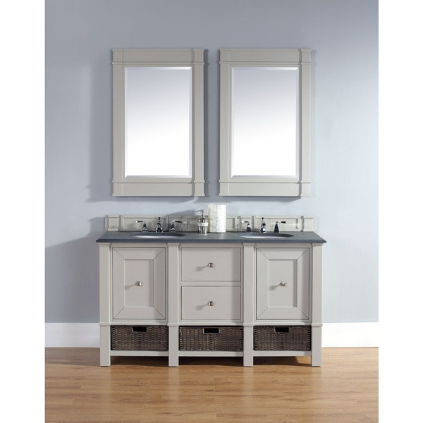 James Martin 60 Inch Double Grey Bathroom Vanity