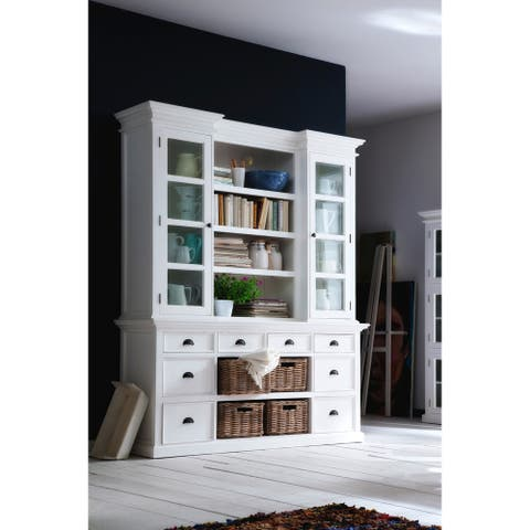The Gray Barn Ora Library Hutch with Basket Set