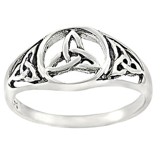 Journee Collection Sterling Silver Celtic Triquetra Ring
