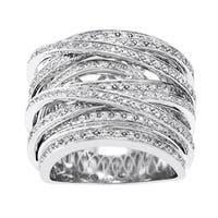 10k Gold 1ct TDW Diamond Multi-Row Crossover Ring