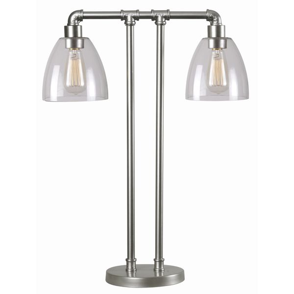 Pipe Fitter Industrial Double-light Table Lamp