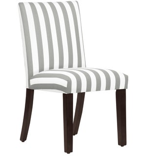 Skyline Furniture Uptown Dining Chair in Canopy Stripe Storm Twill