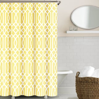 Echelon Home Irving Place Geometric Print Shower Curtain (Option: Yellow)