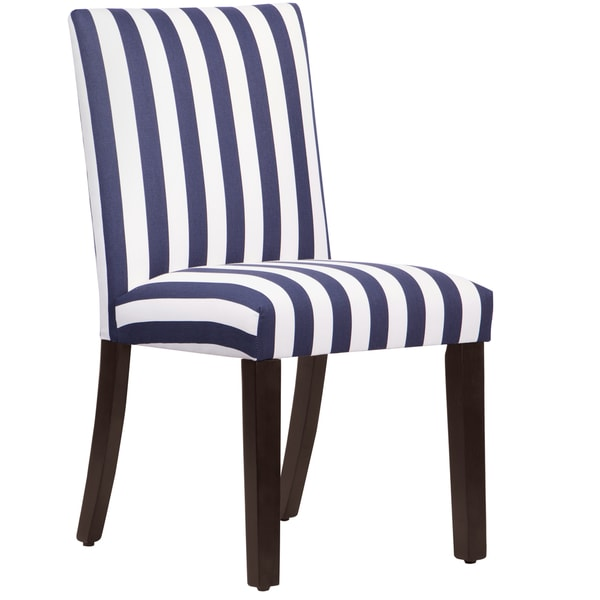 Skyline furniture uptown dining chair in canopy stripe for Blue and white dining chairs