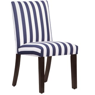 Skyline Furniture Uptown Dining Chair in Canopy Stripe Blue White