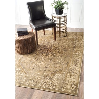 nuLoom Vintage Distressed Overdyed Oriental Area Rug (8' x 10') - 8' x 10' (Option: Tan)