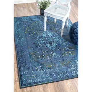 nuLOOM Traditional Vintage-inspired Area Rug (Blue - 8 x 10)