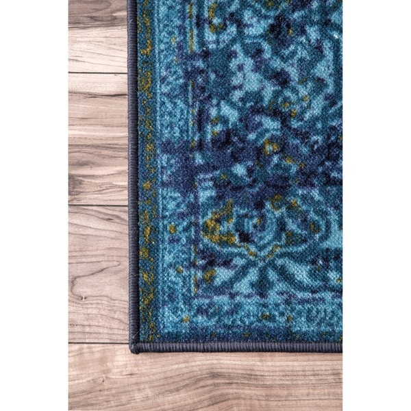 vintage distressed overdyed oriental area rug 8u0027 x 10u0027 free shipping today - Nuloom