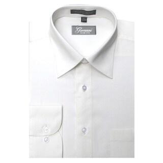 Giovanni Men's Off-white Convertible Cuff Dress Shirt