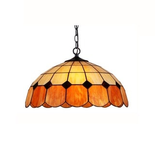 Chloe Lighting Tiffany Style 2-light Bronze Pendant