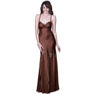 Women's Thin Strap Gown with Open Back