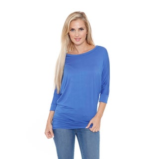 White Mark Women's Boatneck Dolman Top/Tunic (More options available)