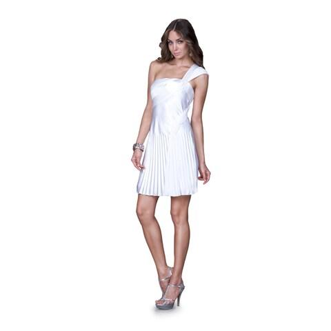Women's Satin One-shoulder Cocktail Dress