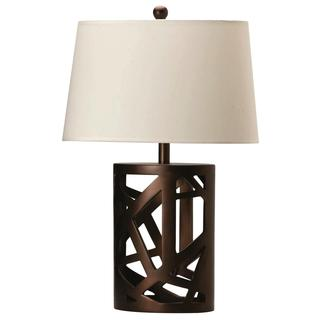 Artistic Design Table Lamp with Oval Shade