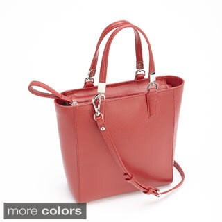 Royce Leather RFID Blocking Saffiano Leather Mini Tote Cross Body Bag