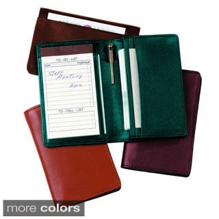 Genuine Leather Royce Executive Note Jotter Organizer