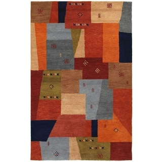 Rizzy Home Mojave Collection Hand-tufted Wool Multi-Colored Rug (2' x 3')