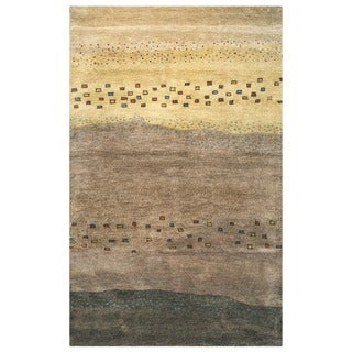 Rizzy Home Mojave Collection Hand-tufted Wool Beige Rug (8' x 10') - 8' x 10'