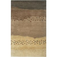 Rizzy Home Mojave Collection Hand-tufted Wool Beige Rug - 5' x 8'