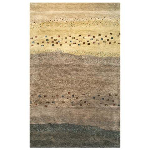 Rizzy Home Mojave Collection Tan Abstract Rug