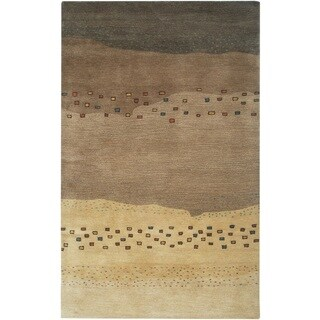 Rizzy Home Mojave Collection Hand-tufted Wool Beige Rug (3' 6 x 5' 6)