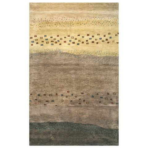 """Rizzy Home Mojave Collection Hand-tufted Wool Beige Rug (3' 6 x 5' 6) - 3'6"""" x 5'6"""""""